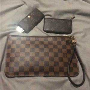 Louis Vuitton neverfull mm pochette pouch